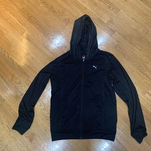 Puma black workout hoodie